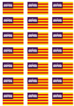 Balearic Islands Flag Stickers - 21 per sheet